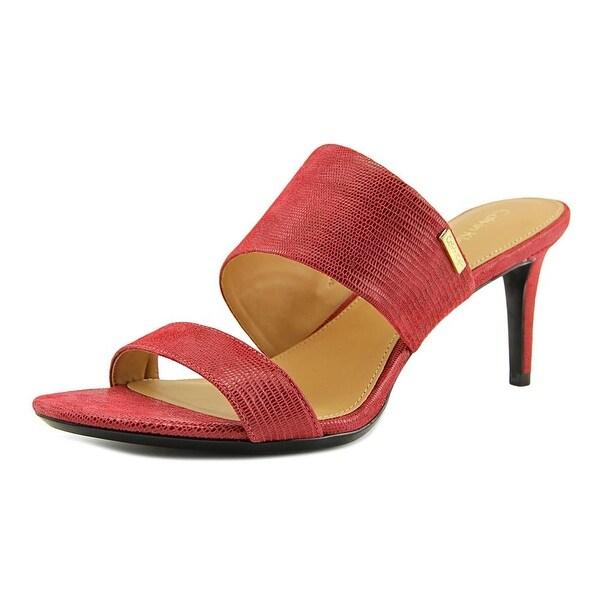Calvin Klein Lanoe Women Open Toe Synthetic Red Sandals