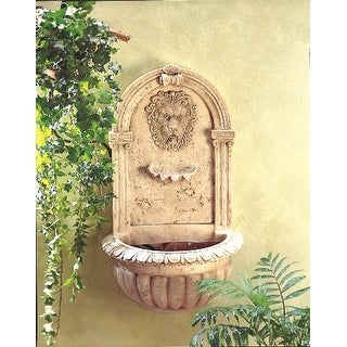 Zingz & Thingz 57070051 Regal Lions Head Wall Fountain