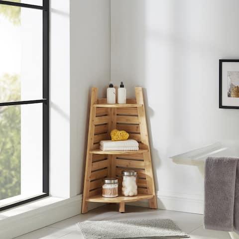 Bracken Bamboo Corner Shelf
