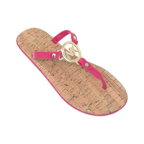 fab5a79d637f Shop Michael Kors MK Charm Jelly Flip Flop Cork Bottom
