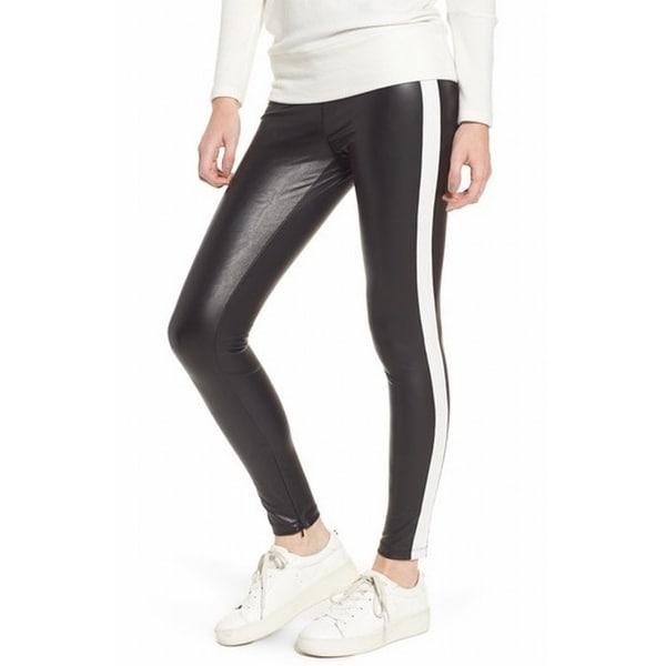 2be9c4df26747 Shop David Lerner NEW Black Women's Size Large L Faux-Leather Pants ...