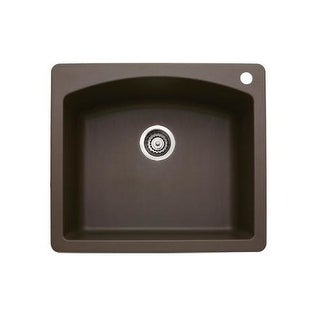 "Blanco 440208 Diamond Single Basin Silgranit II Kitchen Sink 25"" x 22"""