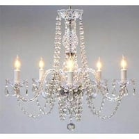 Swag Plug In Swarovski Crystal Trimmed Chandelier Lighting H25 x W24