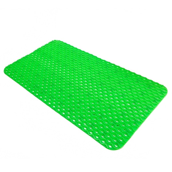 PVC Wave Pattern Anti-skidding Massage Foot Mat - Green