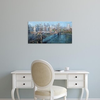Easy Art Prints Mark Lague's 'Brooklyn Bridge' Premium Canvas Art