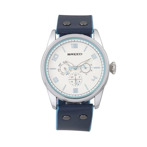 Breed Rio Men's Quartz Multi-function Watch, Genuine Leather Band, Luminous Hands