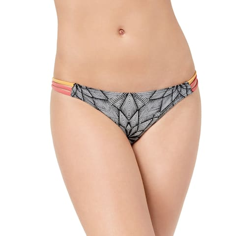 Roxy Junior's Pop Surf Moderate Bikini Swimsuit Bottom, (Multi XS) - XS
