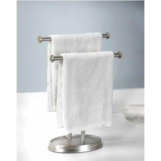 Umbra 021019-410 Palm 4-3/4Inch Wide Two Tier Towel Holder - Nickel