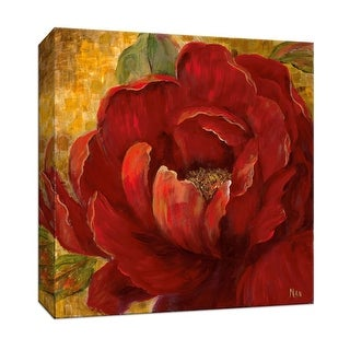 "PTM Images 9-146729  PTM Canvas Collection 12"" x 12"" - ""Red Passion I"" Giclee Flowers Art Print on Canvas"