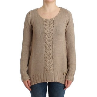Cavalli Cavalli Beige knitted wool sweater