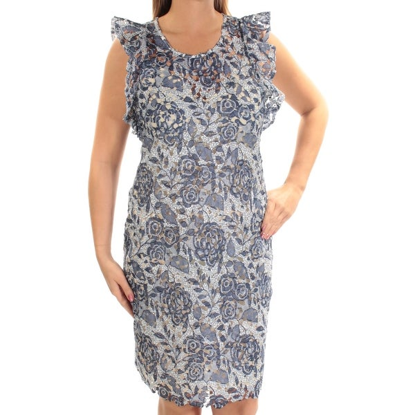 64bd47ebcb9 Shop TOMMY HILFIGER Womens Blue Floral Sleeveless Scoop Neck Above The Knee  Sheath Dress Size: 12 - On Sale - Free Shipping On Orders Over $45 -  Overstock - ...