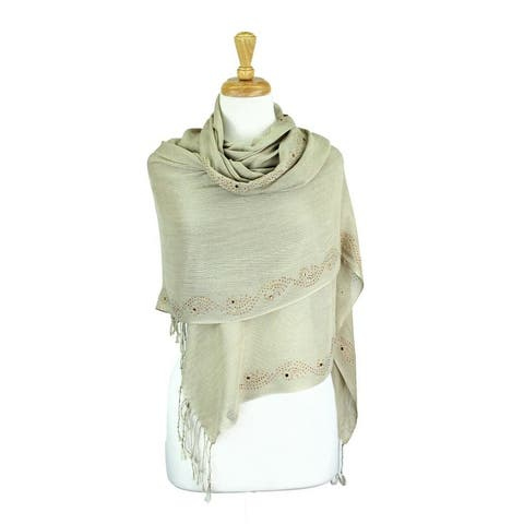Rhinestone Shawls and Wraps for Evening Dresses Wedding Shawl Wrap Shiny Scarf