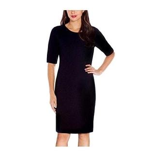 Mario Serrani Ladies Knit Dress Black XS - X-Small