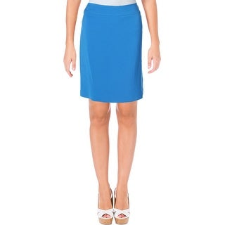 Tahari ASL Womens Petites Pencil Skirt Solid Mini