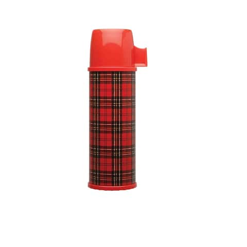 Aladdin Heritage Plaid Double Wall Vacuum Insulated Bottle, Red, 24 Ounces