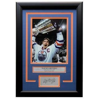 Wayne Gretzky Edmonton Oilers Framed 8x10 Photo W Laser Engraved Signature