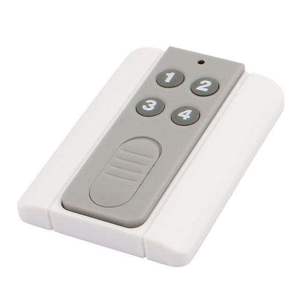 100 Meters 4 Keys Plastic Shell Battery Powered Remote Controller w Base