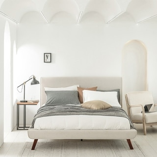 Link to KAIA Fully Upholstered Queen-size Platform Bed Similar Items in Bedroom Furniture