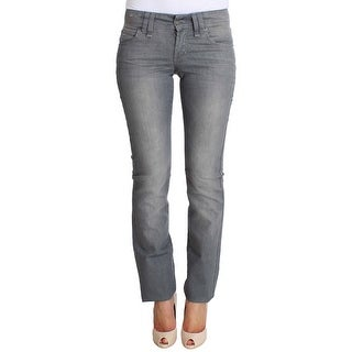 Galliano Galliano Gray Regular Fit Cotton Stretch Denim Jeans - w26