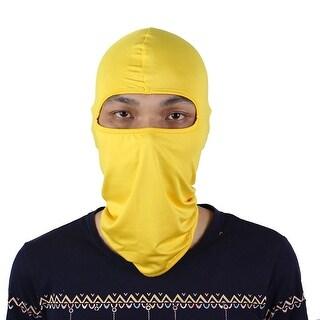 Motorcycle Cycling Bike Hiking Full Face Mask Neck Protecting Balaclava Yellow