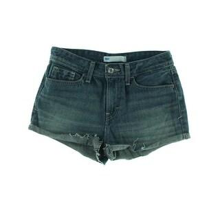 Levi's Womens Juniors Denim Shorts Cotton Whisker Wash - 0