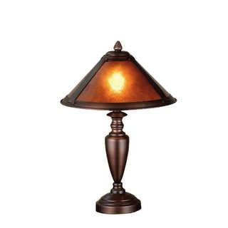 17 Inch H Van Erp Amber Mica Accent Lamp Table Lamps