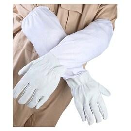 White Anti-bee Gloves Thick Sheepskin Beekeeping Equipment