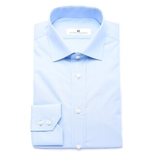 Pierre Balmain Men Slim Fit Cotton Dress Shirt Solid Light Blue (4 options available)