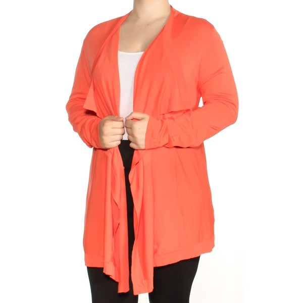 Shop ANNE KLEIN Womens Orange Long Sleeve Open Cardigan Sweater Size  XL - Free  Shipping On Orders Over  45 - Overstock - 23454803 72118d140