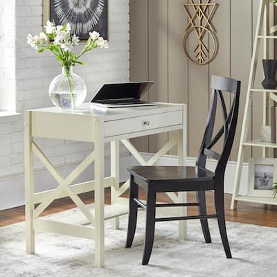 Simple Living X-Frame Farmhouse Wood Desk