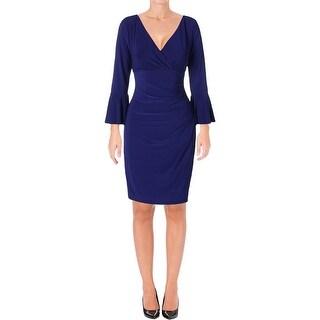 Lauren Ralph Lauren Womens Party Dress Ruched Surplice