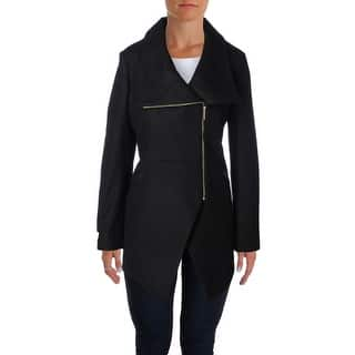 French Connection Womens Coat Contrast Trim Asymmetric|https://ak1.ostkcdn.com/images/products/is/images/direct/f18fc83b0068592e454cd51a7c46c39a63bb667a/French-Connection-Womens-Coat-Contrast-Trim-Asymmetric.jpg?impolicy=medium