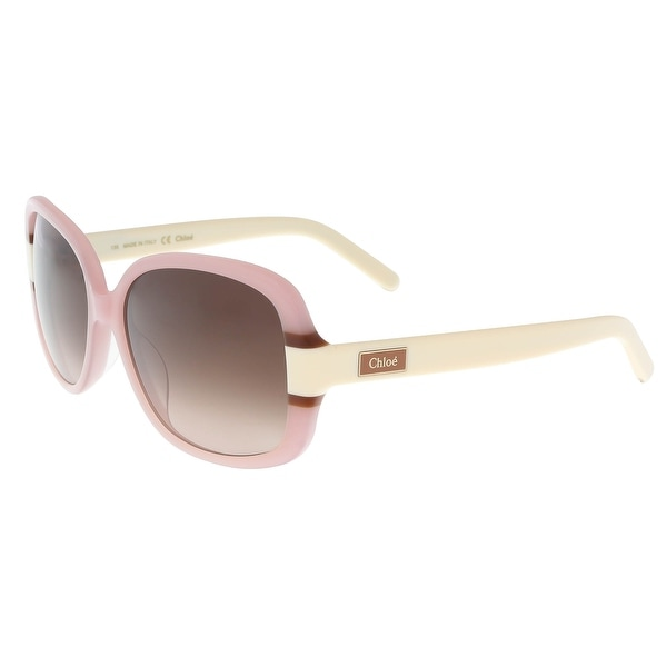 48f24020967 Shop Chloe CE610 S 607 Rose Cream Square Sunglasses - 57-16-135 - Free  Shipping Today - - 16928121