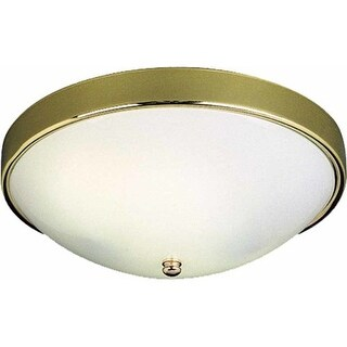 """Volume Lighting V6637 2 Light 12.5"""" Width Flush Mount Ceiling Fixture"""