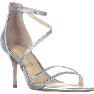Ivanka Trump Genese Strappy Evening Sandals, Silver