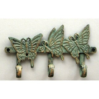 Cast Iron Butterfly Key Hook