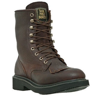 Dan Post Work Boots Mens Rigger Lacer Round Toe Oily Briar DP69612