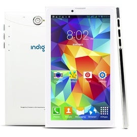 Indigi® 2-in-1 7inch Android 4.4 (3G Factory Unlocked) 2-in-1 SmartPhone + TabletPC AT&T/T-Mobile (White)