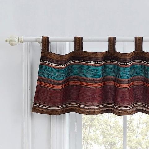 Porch & Den Parnell Stripe Pattern Window Valance
