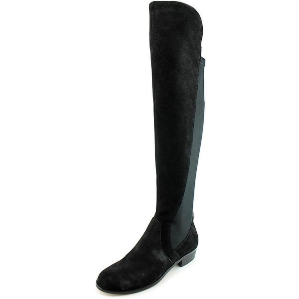 Corso Como Stonybrook Women Round Toe Suede Black Over the Knee Boot