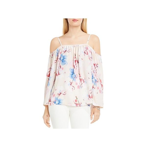 7eff786d0e157 Shop Vince Camuto Womens Peasant Top Floral Print Cold Shoulder ...