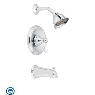 Moen T2113 Single Handle Posi-Temp Pressure Balanced Tub and Shower Trim with Shower Head from the Kingsley Collection (Less