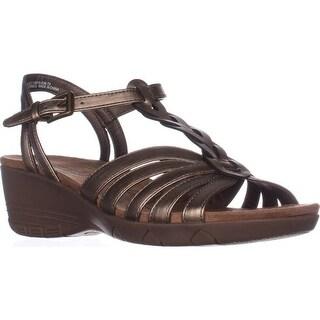 Bare Traps Honora Memory Foam Wedge Sandals, Bronze