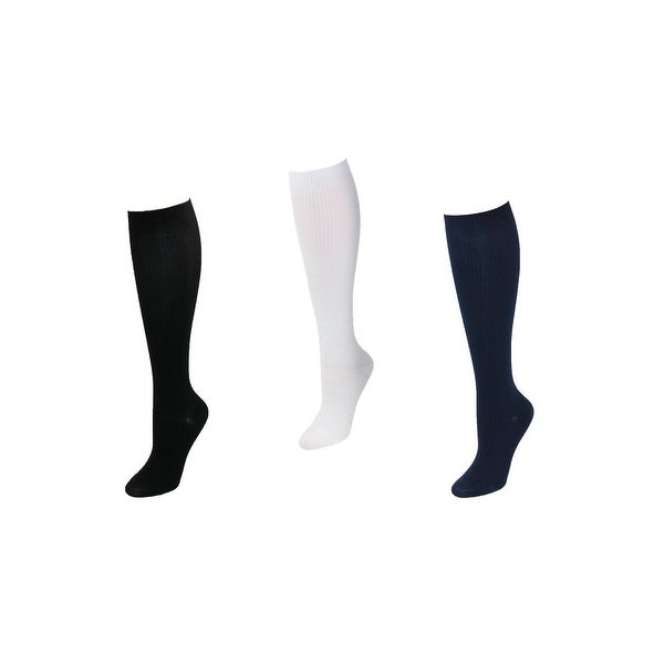 Think Medical Women's Plus Size Compression Knee High Socks (3 Pair Pack)