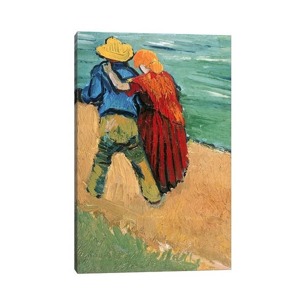 """iCanvas """"A Pair of Lovers, Arles, 1888 """" by Vincent van Gogh Canvas Print. Opens flyout."""
