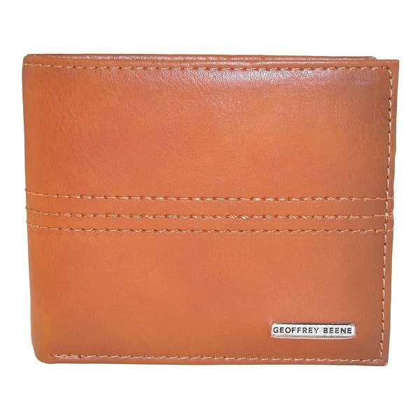 Geoffrey Beene Men's Leather Bifold Wallet with Burnished Edges - One size
