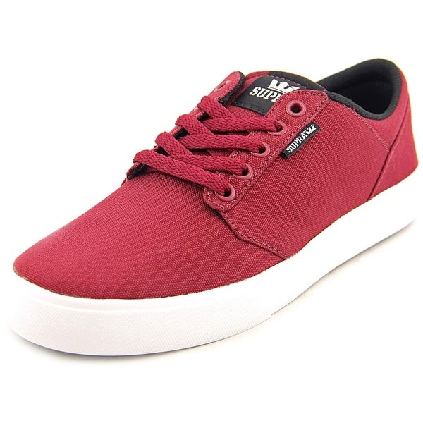 Supra Stacks Vulc II Men Round Toe Canvas Burgundy Sneakers