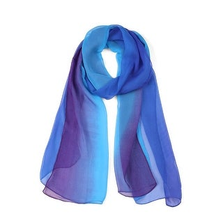 Link to Long Chiffon Lightweight Gradient Color Scarf For Women - Royal Blue Similar Items in Scarves & Wraps