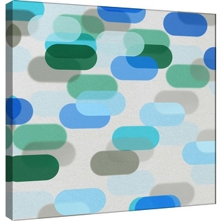 """PTM Images 9-101089  PTM Canvas Collection 12"""" x 12"""" - """"Transitions V"""" Giclee Abstract Art Print on Canvas"""