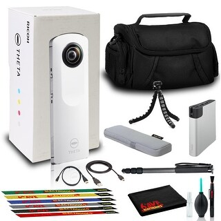 Link to Ricoh Theta m15 Spherical VR Digital Cam (White) with Bag, Power Pack, and More Similar Items in Digital Cameras